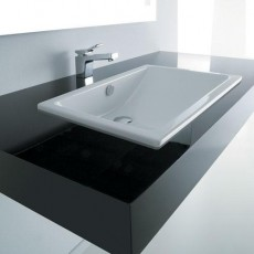 Blat baie Monolit Quartz compozit lav incastr/pe blat 60 cm